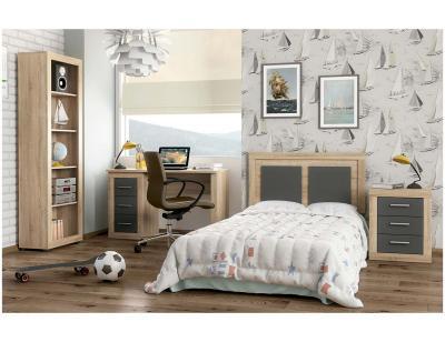Dormitorio juvenil escritorio y estanteria 68