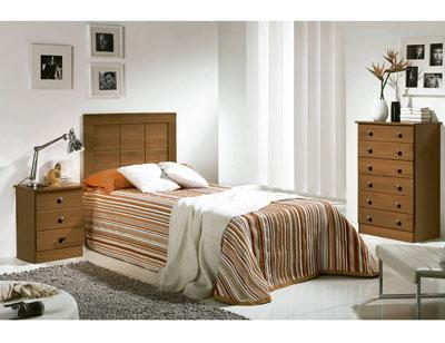 Dormitorio juvenil kenia madera nogal