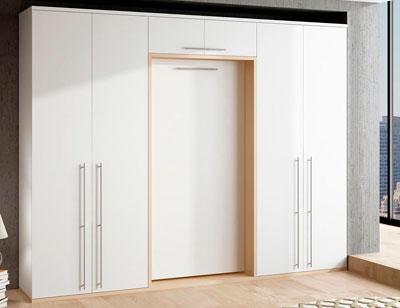 Dormitorio juvenil litera barandilla con armarios