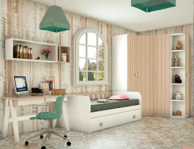 Dormitorio juvenil madera 119