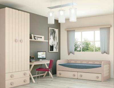 Dormitorio juvenil madera 120