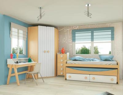 Dormitorio juvenil madera 122