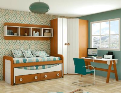 Dormitorio juvenil madera 123