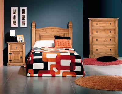 Dormitorio juvenil madera rustico