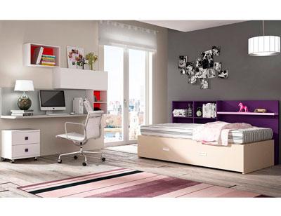 Dormitorio juvenil moderno cama adolescente
