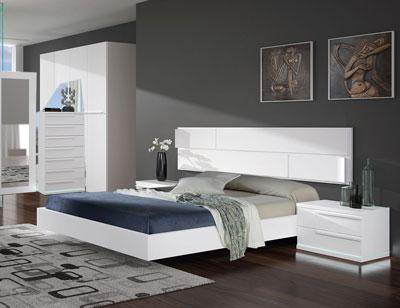 Dormitorio matrimonio blanco calidad