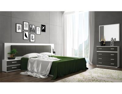 Dormitorio matrimonio blanco grafito cabra 3
