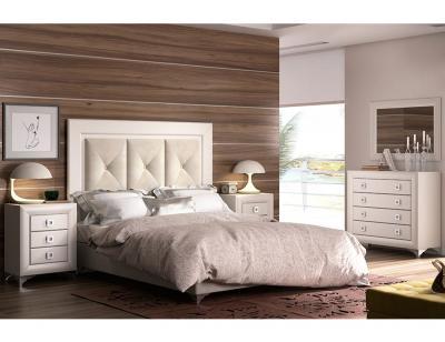 Dormitorio matrimonio blanco lacado
