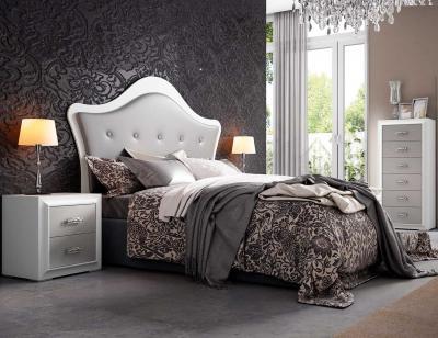 Dormitorio matrimonio blanco plata 2