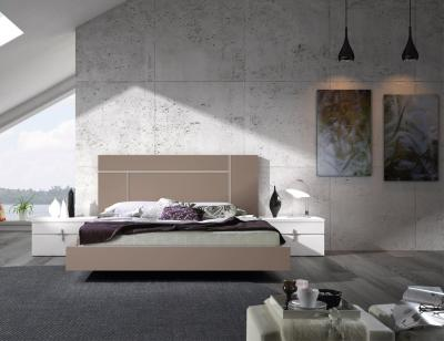 Dormitorio matrimonio cabezal parek mesita noche bañera moka blanco