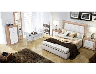 Dormitorio matrimonio cambrian blanco sinfonier