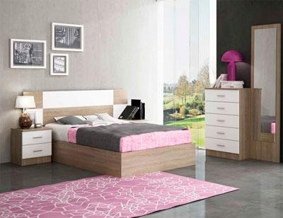 Dormitorio matrimonio estilo moderno ava cambrian blanco