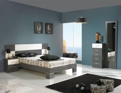 Dormitorio matrimonio estilo moderno ava ceniza blanco