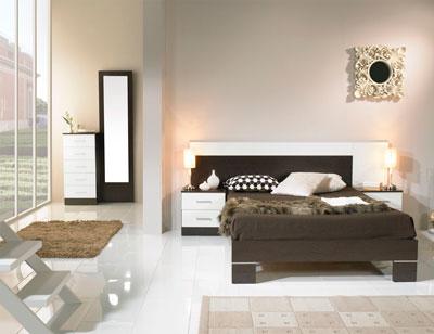 Dormitorio matrimonio estilo moderno loto wengue blanco
