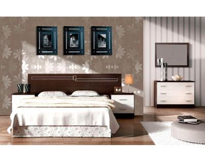 Dormitorio matrimonio estilo moderno mickey wengue blanco