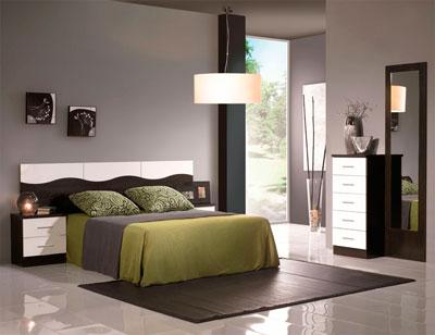 Dormitorio matrimonio estilo moderno onda wengue blanco