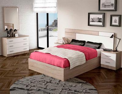 Dormitorio matrimonio estilo moderno turia cambrian blanco