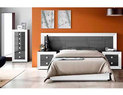 Dormitorio matrimonio lacado 021
