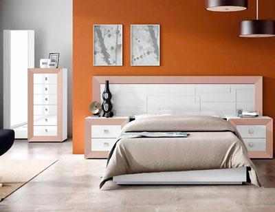 Dormitorio matrimonio lacado 041