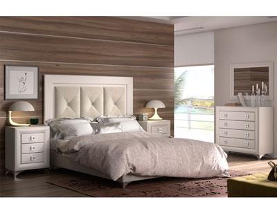 Dormitorio matrimonio lacado tapizado