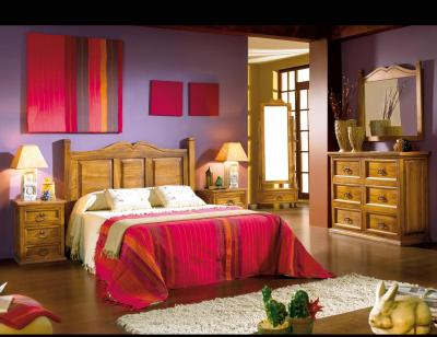 Dormitorio matrimonio madera cabecero sonora comoda
