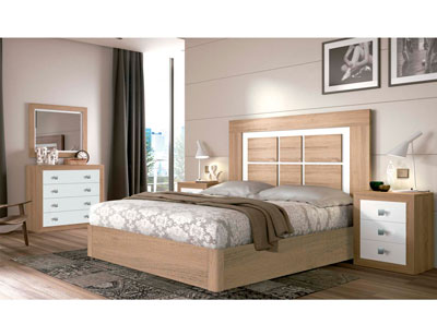 Dormitorio matrimonio moderno 10 cambrian blanco