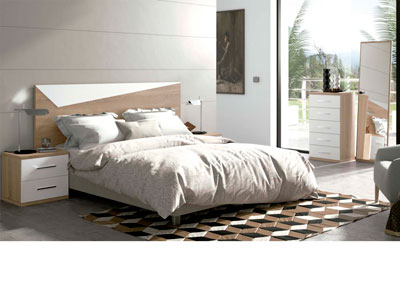 Dormitorio matrimonio moderno 23 cambrian blanco