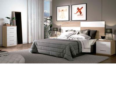 Dormitorio matrimonio moderno 26 blanco gris