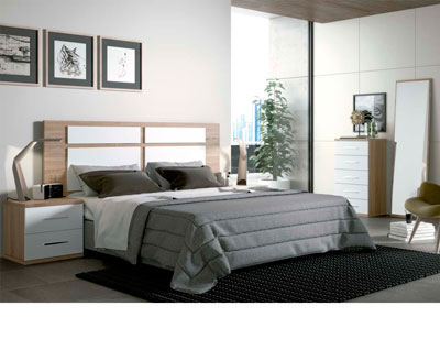Dormitorio matrimonio moderno 28 cambrian blanco