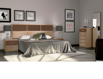Dormitorio matrimonio moderno 34 cambrian chocolate