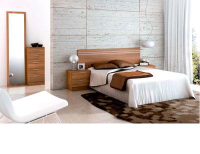 Dormitorio matrimonio moderno 39 walnut