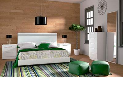 Dormitorio matrimonio moderno 41 blanco