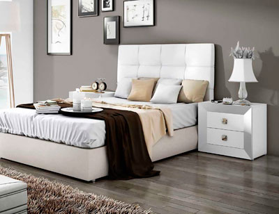 Dormitorio matrimonio moderno cabecero tapizado blanco 07