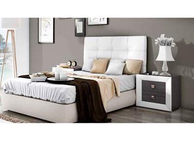 Dormitorio matrimonio moderno cabecero tapizado blanco 09