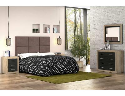 Dormitorio matrimonio moderno cambria grafito