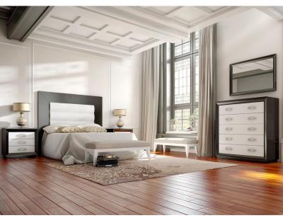 Dormitorio matrimonio neoclasico cabecero tapizado