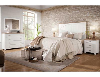 Dormitorio matrimonio reustico blanco