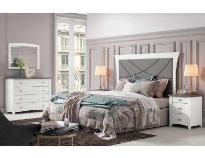 Dormitorio matrimonio rustico blanco 14