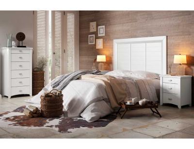 Dormitorio matrimonio rustico blanco 7