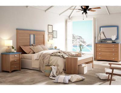 Dormitorio matrimonio rustico nogal 3