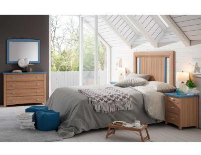 Dormitorio matrimonio rustico nogal 8