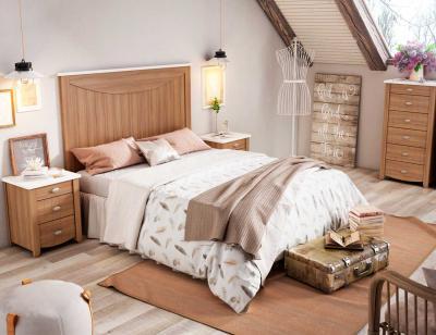 Dormitorio matrimonio rustico nogal 9