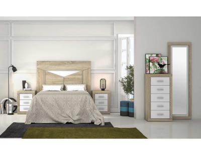 Dormitorio moderno cambria blanco 36