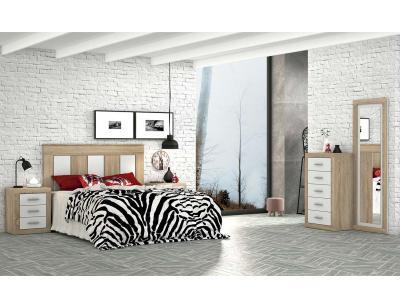 Dormitorio moderno cambria blanco 45