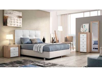 Dormitorio moderno polipiel cambrian blanco 06