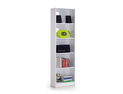 Libreria estanteria blanco brillo