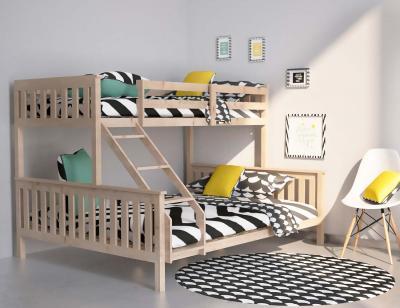 Litera cama de matrimonio en madera maciza