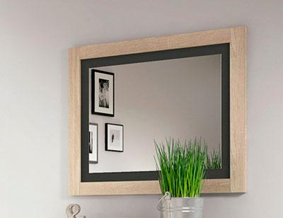 Marco espejo dormitorio matrimonio moderno cambrian grafito