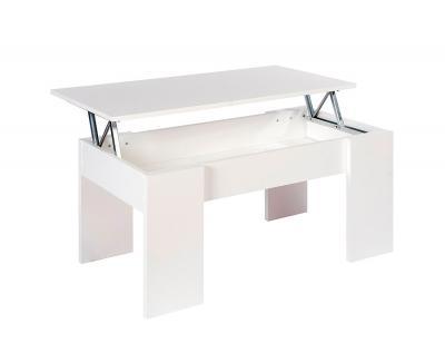 Mesa centro elevable blanco 1