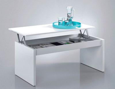 Mesa centro elevable blanco barata 2